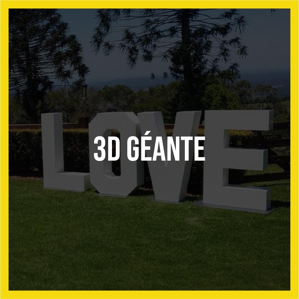 Structure 3D géante personnalisable par Lightlab.io