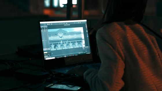 MERCI - Vidéo mapping par Lightlab.io