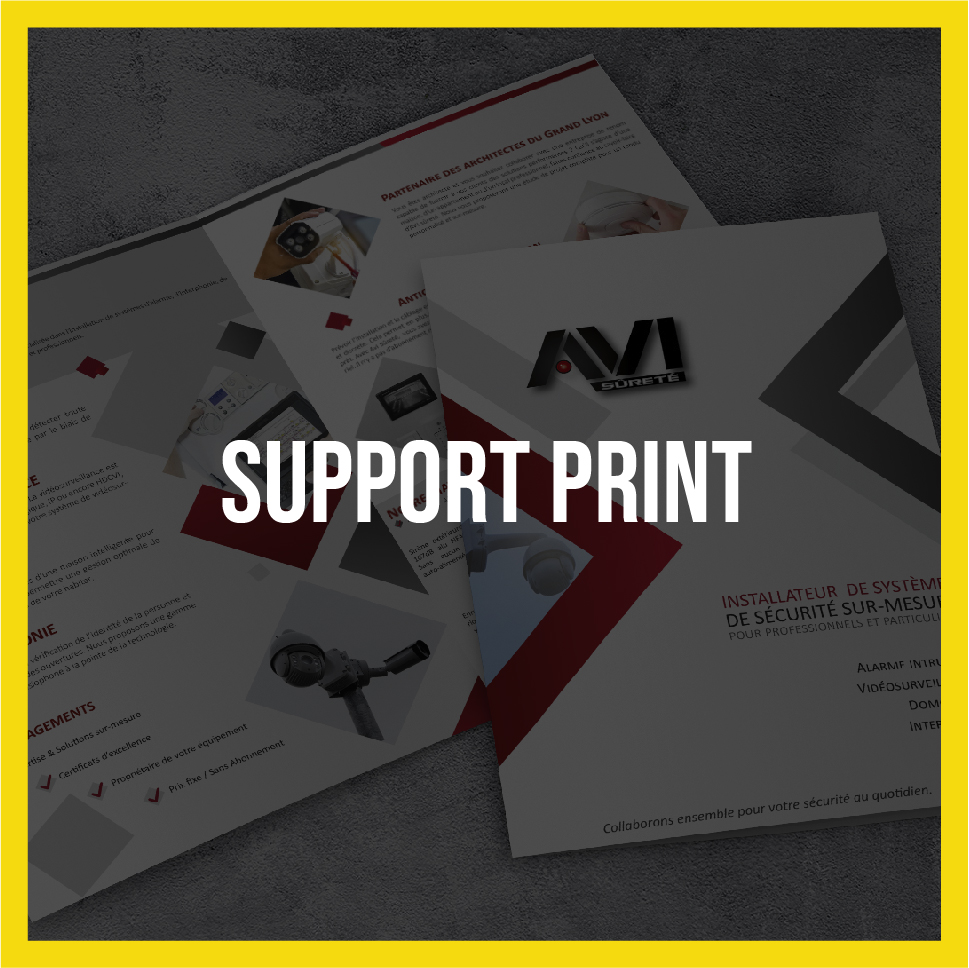 Lightlab.io réalise divers supports print : logo, dépliants, affiches, etc.