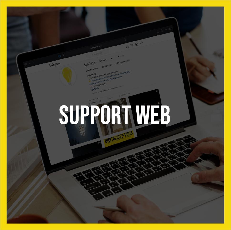Support Web - Lightlab.io | Agence de communication à Saint-Étienne