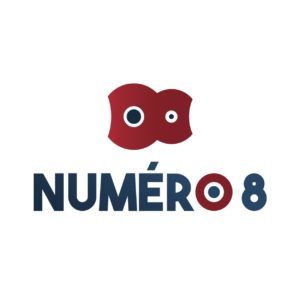 Nouveau logo Numéro 8 réalisé par Lightlab.io