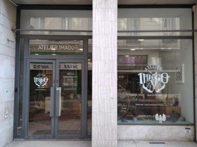 Vitrine Imago avec le nouveau logo